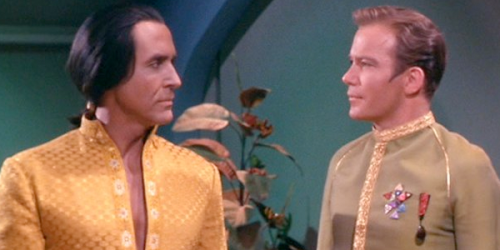 William Shatner with Ricardo Montalban in the episode Space Seed.
