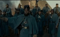 "Black soldiers in the Union army as depicted in ""Lincoln."""