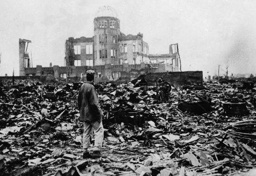Aftermath of Hiroshima, an image still fresh in the mind of Japanese movie goers.
