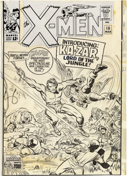Beautiful Kirby art from X-Men #10.