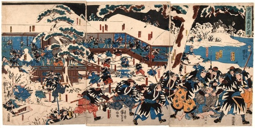 Japanese woodblock print of the forty-seven samurai