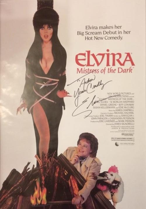 My personal Elvira, Mistress of the Dark one sheet.
