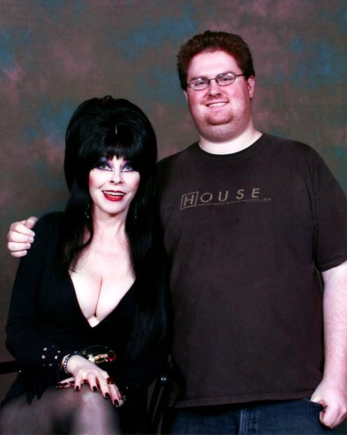 Elvira and yours truly.