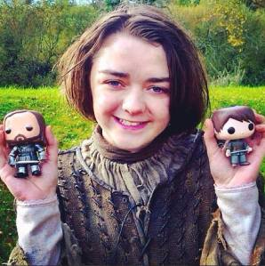 Arya and The Hound and Arya