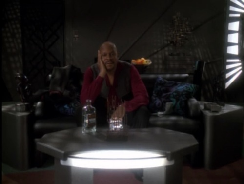 Sisko justifying his actions to his personal log.
