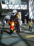 Grimlock was too big to fit into the convention floor! Still a great costume.