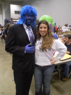 Tracy was SOOO excited to meet Beast!
