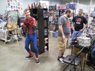 Spider-Man hanging out with our friends at Borderless.