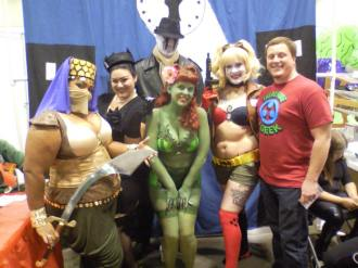 Guest blogger Kurt Klein hanging out with the Bombers & Betties cosplay group.