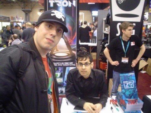 Chris with Jhonen Vasquez