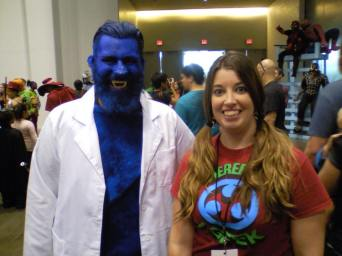 Tracy got to see two Beast cosplayers. Awesome!