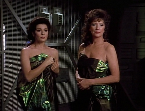 Lwaxana and Deanna Troi