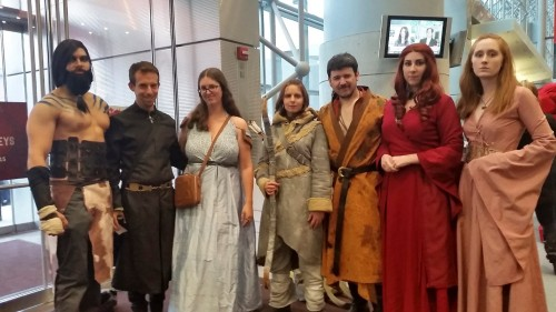 Our Game of Thrones group at New York Comic Con, October 2014. Photo courtesy of Chris O'Connor