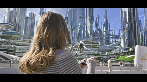 Casey's first look at Tomorrowland.