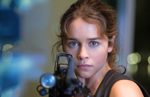 Emilia Clarke as Sarah Connor...kind of