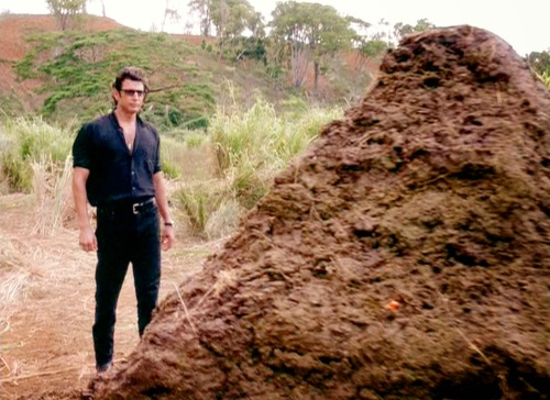 Jeff Goldblum is seen here glancing over the script for After Earth. He later backed out of the project.